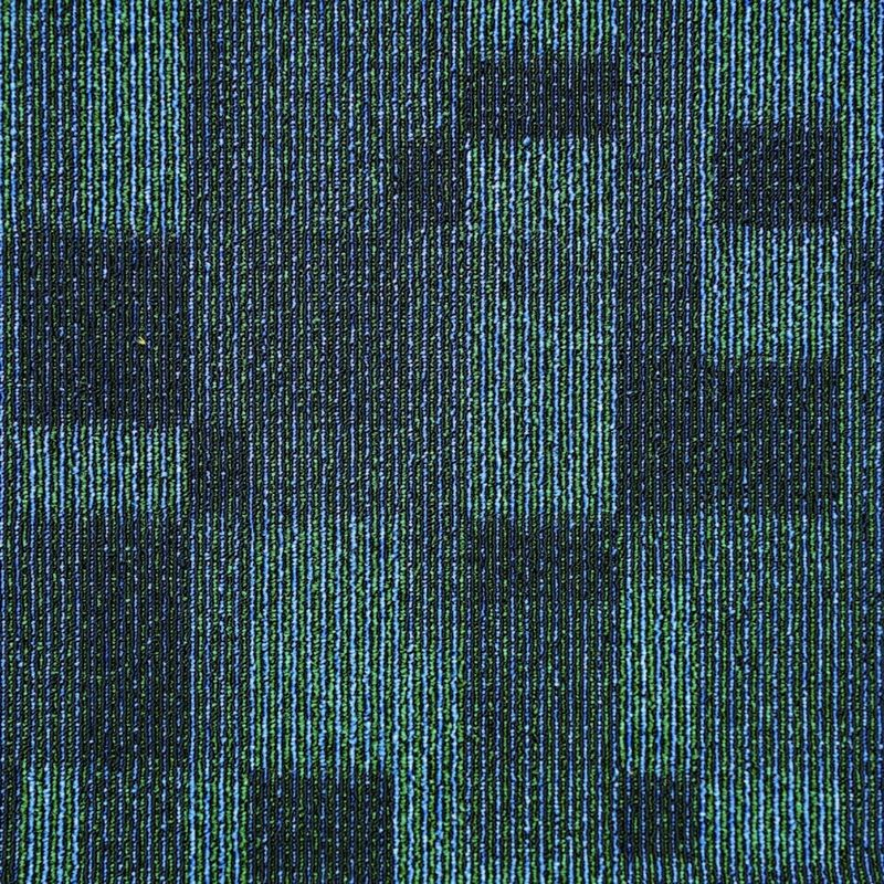 3 - 4mm Pile Height Office Carpet Tiles Tufted Multi - Level Loop Pile Construction