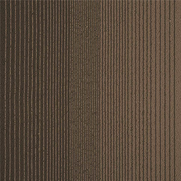 Indoor Carpet Squares / Striped Carpet Tiles Pvc With Fiberglass Backing