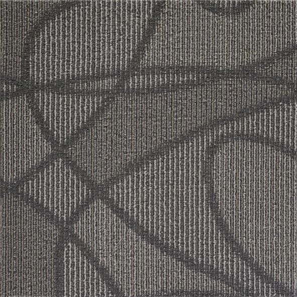 Modular Peel And Stick Indoor Outdoor Carpet Tiles / Black Commercial Carpet Tiles