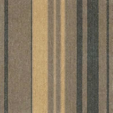 3 Mm - 4 Mm Pile Height Striped Carpet Tiles / Commercial Modular Carpet Tiles