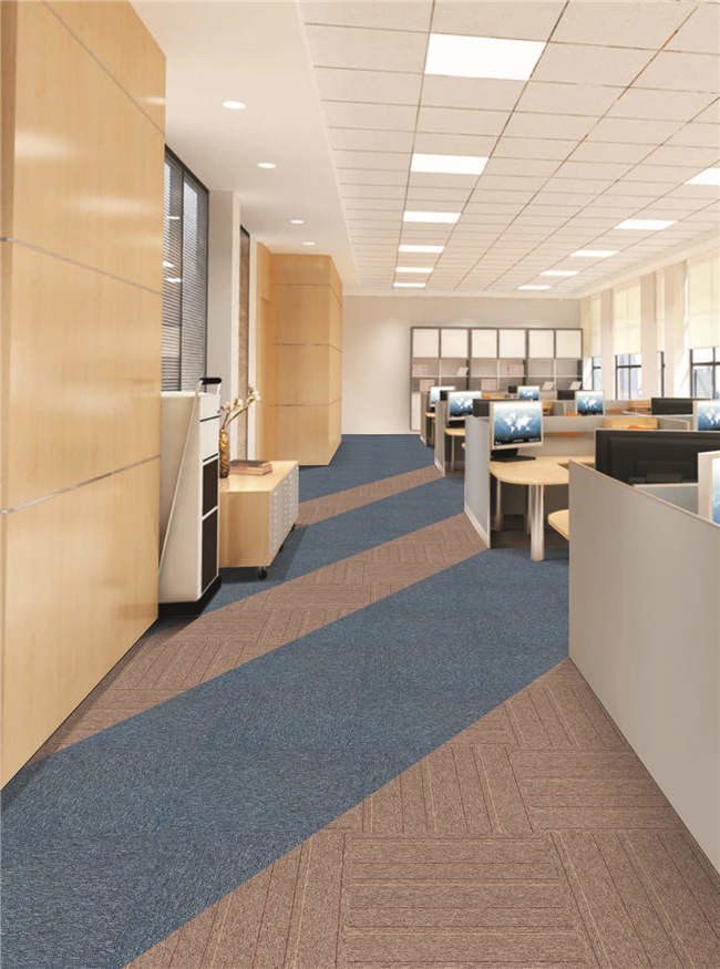 LEVEL LOOP PP with PVC  CARPET TILE FOR  COMMERCIAL ROOM OR OFFICE