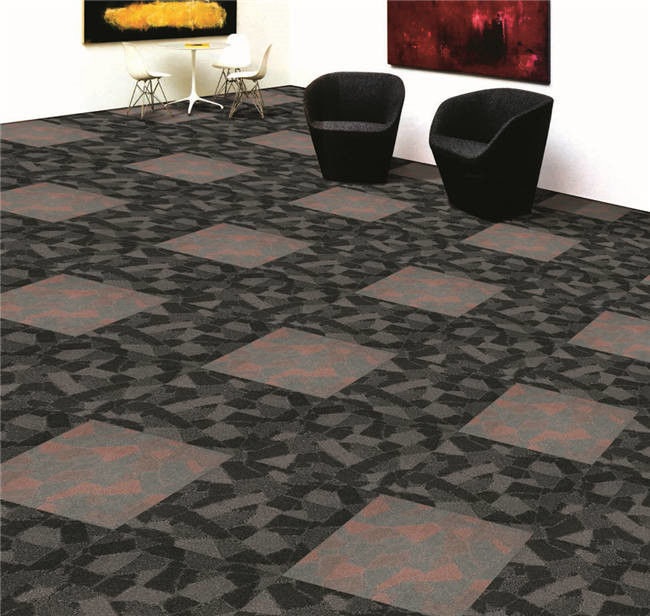 Modern Beautiful Pattern Hotel Carpet Tiles , Commercial Carpets For Hotels