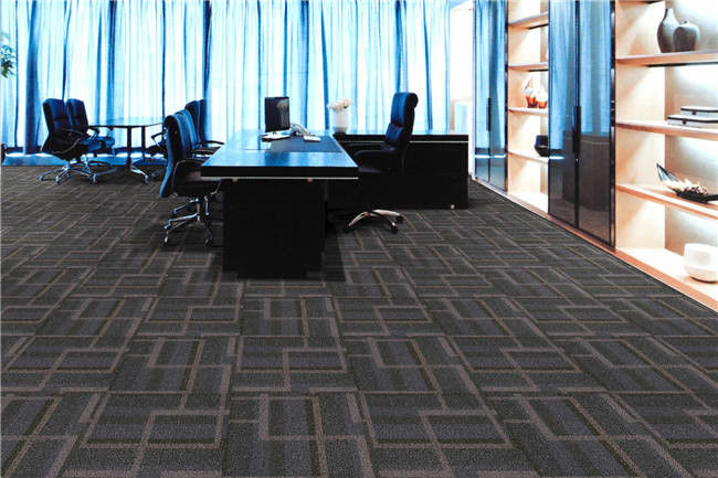 Hotel Floor Carpet Tiles / Commercial Peel And Stick Carpet Tiles Solution Dyed Method